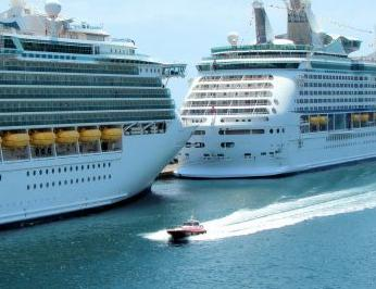 Cruise Ship x2 in Port